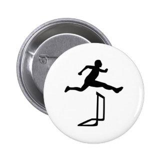 Athletics - Hurdles Pinback Buttons