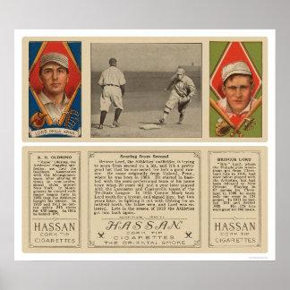 Athletics Lord Oldring Baseball 1912 Poster