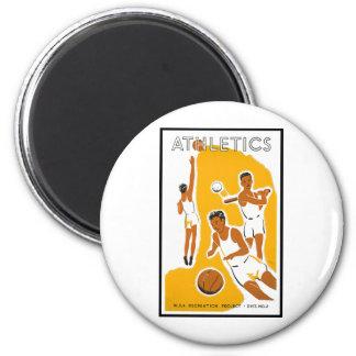 Athletics poster (1939) 2 inch round magnet