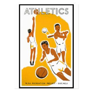 Athletics poster (1939) postcard