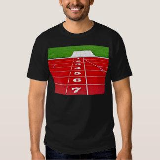 Athletics Running Track Mens Black Tee Shirt