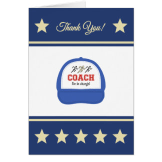 Athletics sport coach runners thank you card
