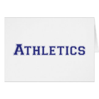 Athletics square logo in blue greeting card