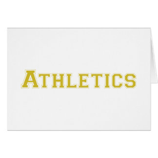 Athletics square logo in gold greeting card