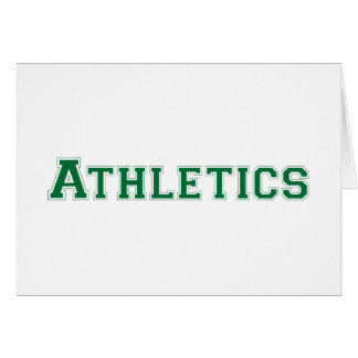 Athletics square logo in green greeting card
