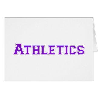 Athletics square logo in purple greeting card