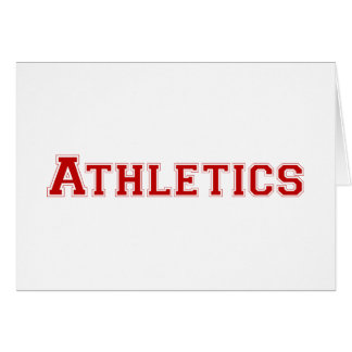 Athletics square logo in red greeting card