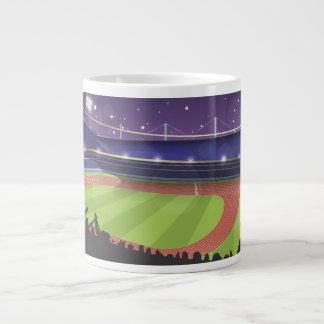 Athletics Stadium with fans Giant Coffee Mug