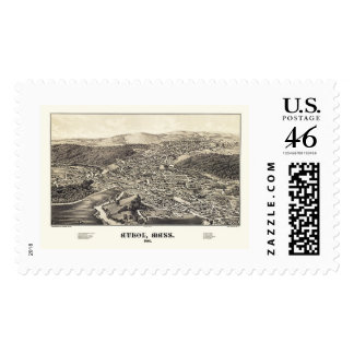 Athol MA Panoramic Map - 1887 Stamps