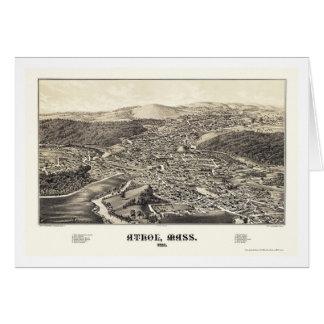 Athol, mapa panorámico del mA - 1887 Tarjeta De Felicitación