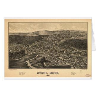 Athol, Massachusetts en 1887 Tarjeta De Felicitación