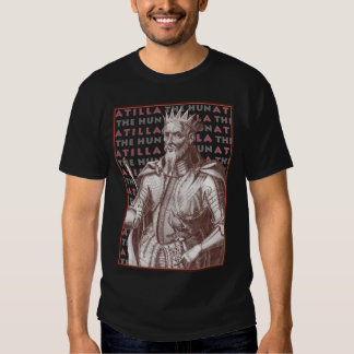 Atilla The Hun - T-Shirt with Antique Portrait