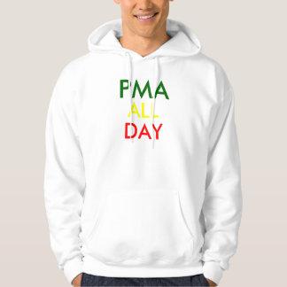 Atitude mental positivo suéter con capucha