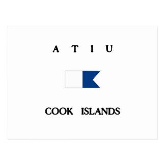 Atiu Cook Islands Alpha Dive Flag Postcard