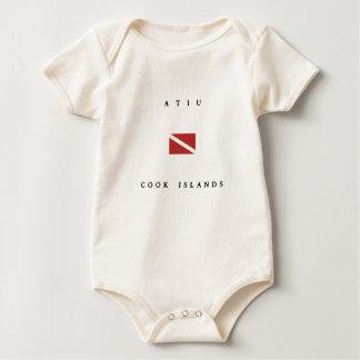 Atiu Cook Islands Scuba Dive Flag Baby Bodysuit