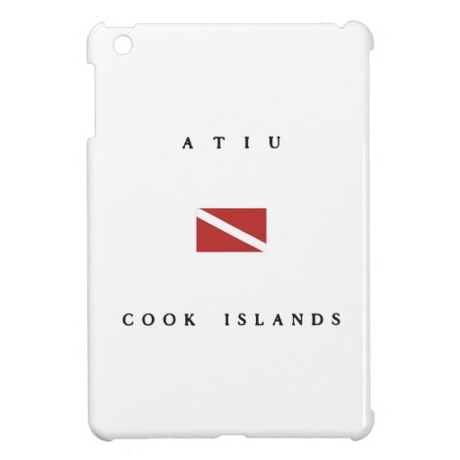 Atiu Cook Islands Scuba Dive Flag iPad Mini Cover