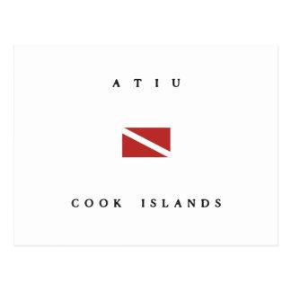 Atiu Cook Islands Scuba Dive Flag Postcard