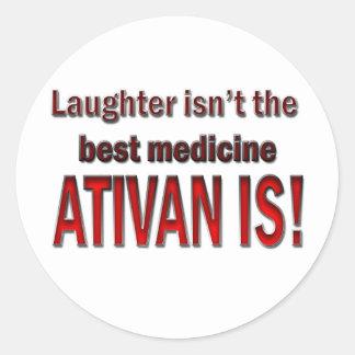 Ativan Round Stickers