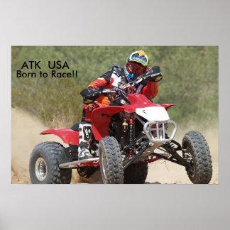 ATK 450 Quad Racing Print