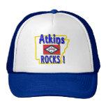 Atkins Rocks ! (blue) Trucker Hats