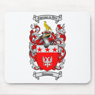 ATKINSON FAMILY CREST -  ATKINSON COAT OF ARMS MOUSE PAD