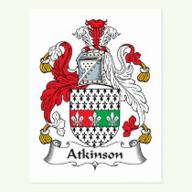 Atkinson Family Crest Postcard