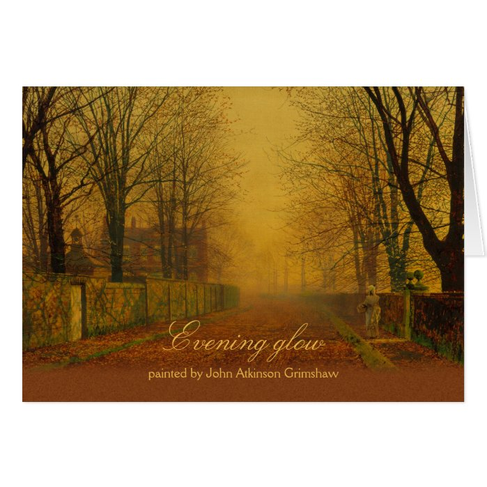 Atkinson Grimshaw Evening glow CC0868 Birthday Card