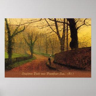 Atkinson Grimshaw Stapleton Park 1877 CC0046 Poster