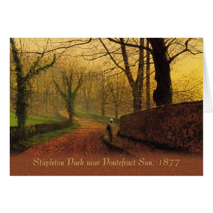 Atkinson Grimshaw Stapleton Park 1877 CC0064 Card