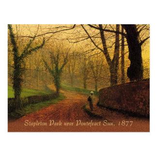 Atkinson Grimshaw Stapleton Park 1877 CC0083 Postcard