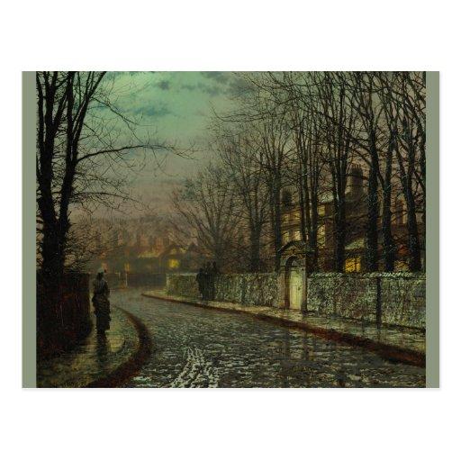 Atkinson Grimshaw Tryst CC0611 Postcard