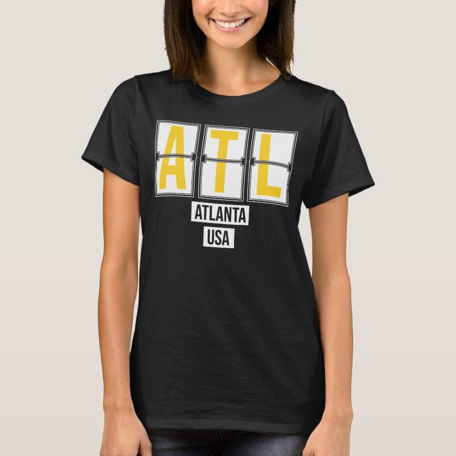 ATL - Atlanta USA Airport Code Souvenir or Gift T-Shirt - Best Selling Long-Sleeve Street Fashion Shirt Designs