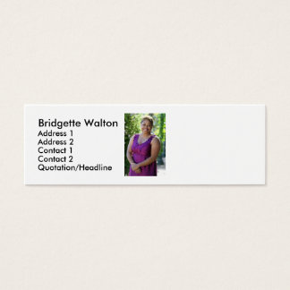 Atl Bot Gardens 1, Bridgette Walton , Address 1... Mini Business Card