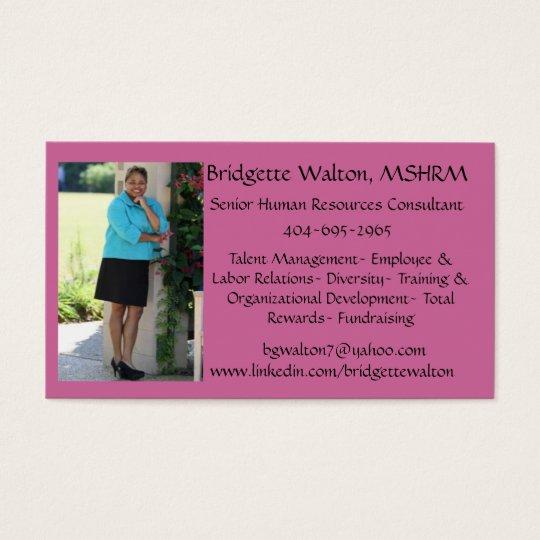 Atl Bot Gardens 4, Bridgette Walton, MSHRM, bgw... Business Card