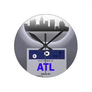 ATL CODE & SKYLINE ROUND CLOCK
