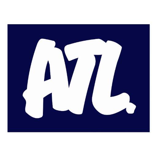 ATL Letters Postcard
