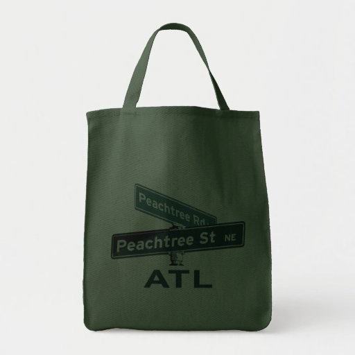 ATL Peachtree Signs Canvas Bag