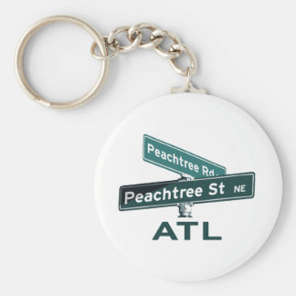 ATL Peachtree Signs Keychain