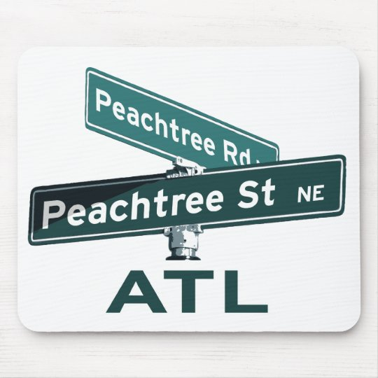 ATL Peachtree Signs Mouse Pad