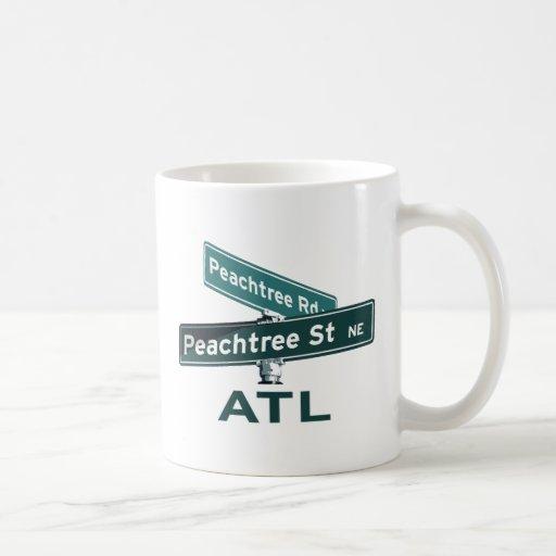 ATL Peachtree Signs Mugs