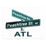 ATL Peachtree Signs Postcards