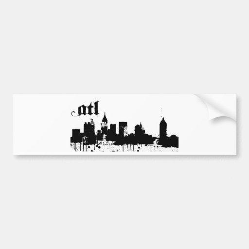 ATL puesto para su diseño de la ciudad Etiqueta De Parachoque