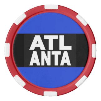 Atlanta 2 Blue Poker Chips Set
