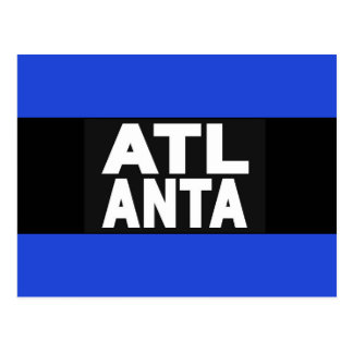 Atlanta 2 Blue Postcard