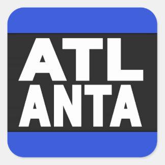 Atlanta 2 Blue Square Sticker