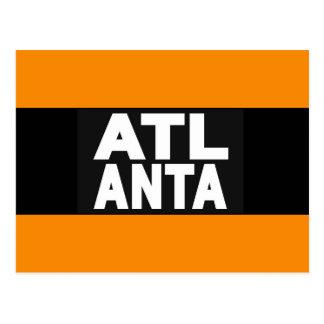 Atlanta 2 Orange Postcard