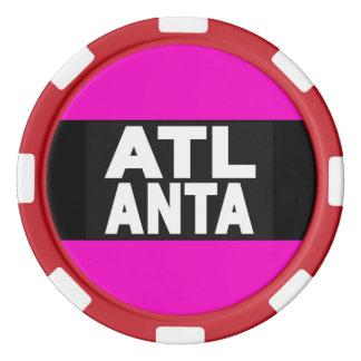 Atlanta 2 Pink Poker Chips