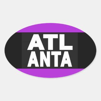 Atlanta 2 Purple Oval Sticker