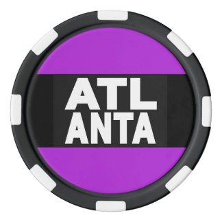 Atlanta 2 Purple Poker Chips