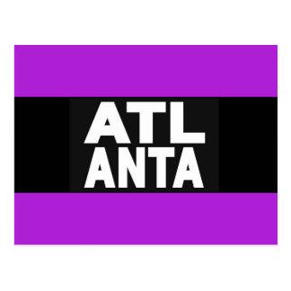 Atlanta 2 Purple Postcard